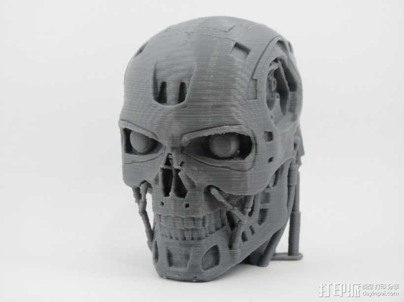 T-800机器人 头部 3D打印模型渲染图
