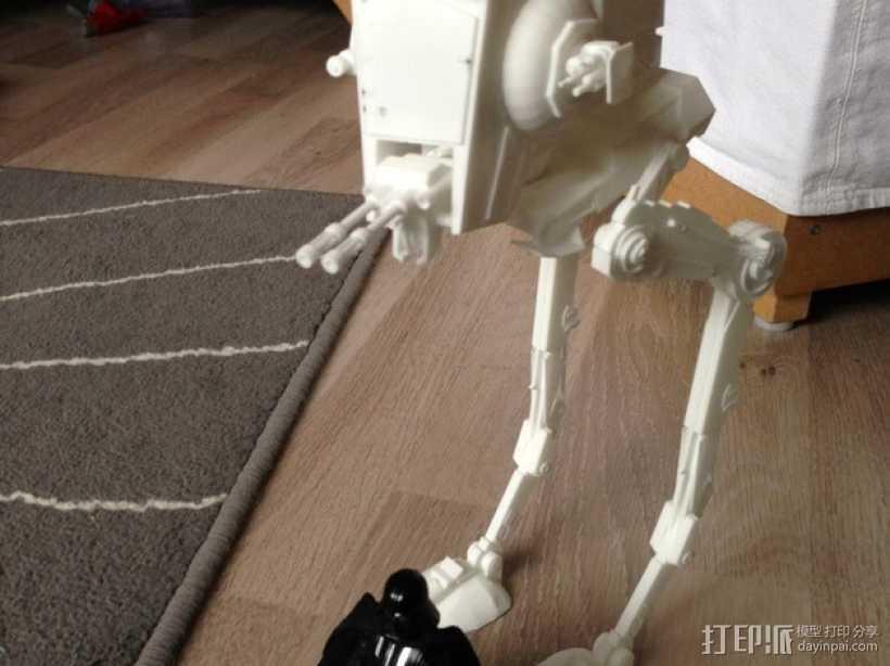 AT-ST探察步行机 3D打印模型渲染图