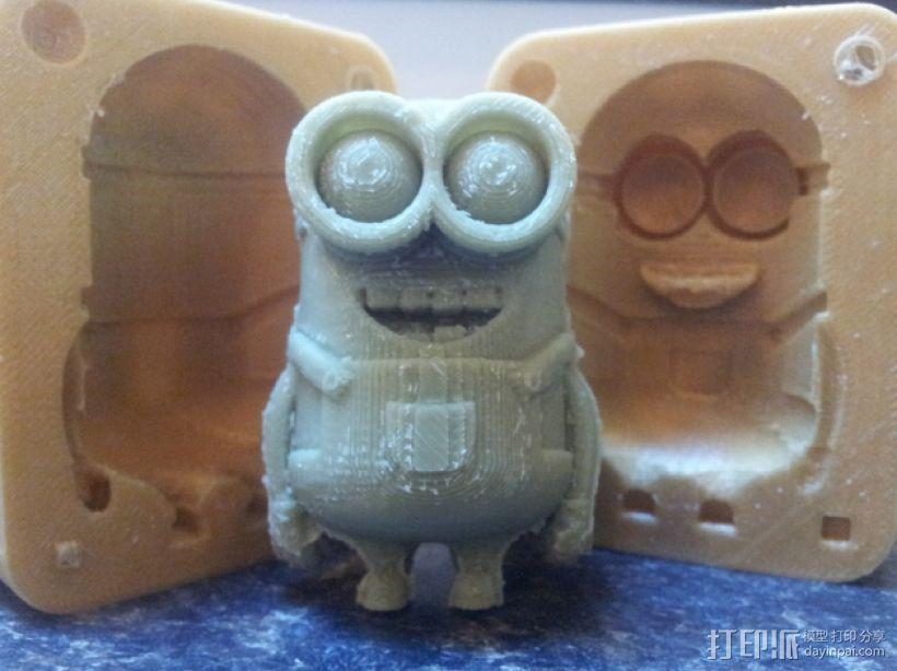 小黄人 模具 3D打印模型渲染图