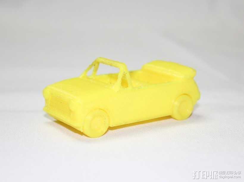 玩具车 敞篷车  3D打印模型渲染图