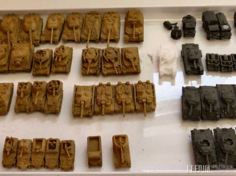 1:200坦克 3D打印模型渲染图