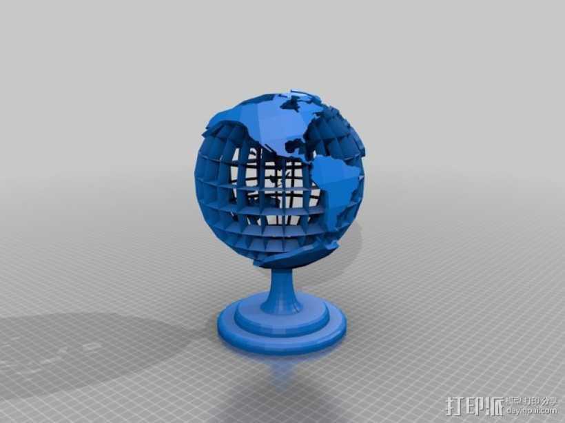 地球 床头灯 3D打印模型渲染图
