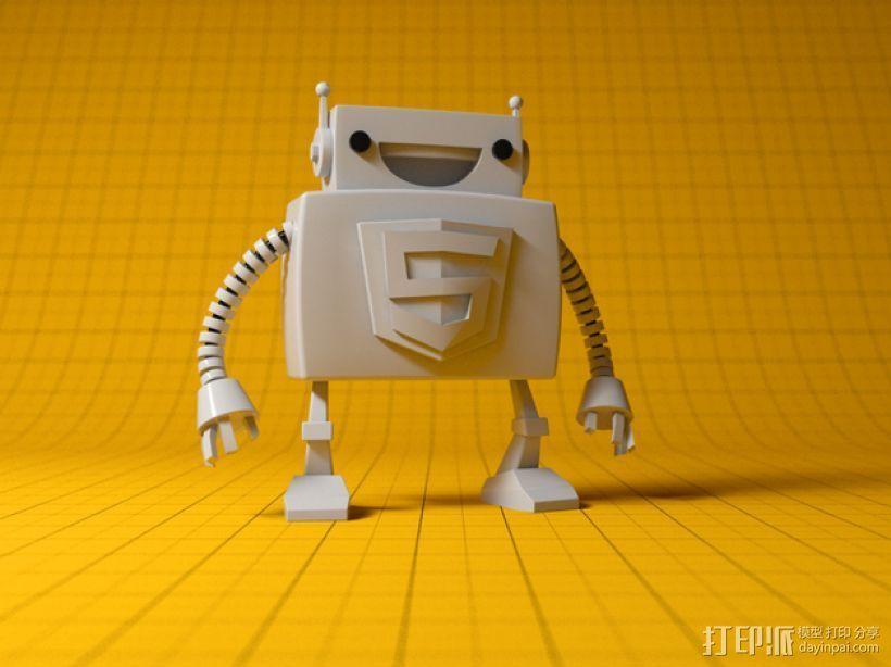 Html5机器人 3D打印模型渲染图