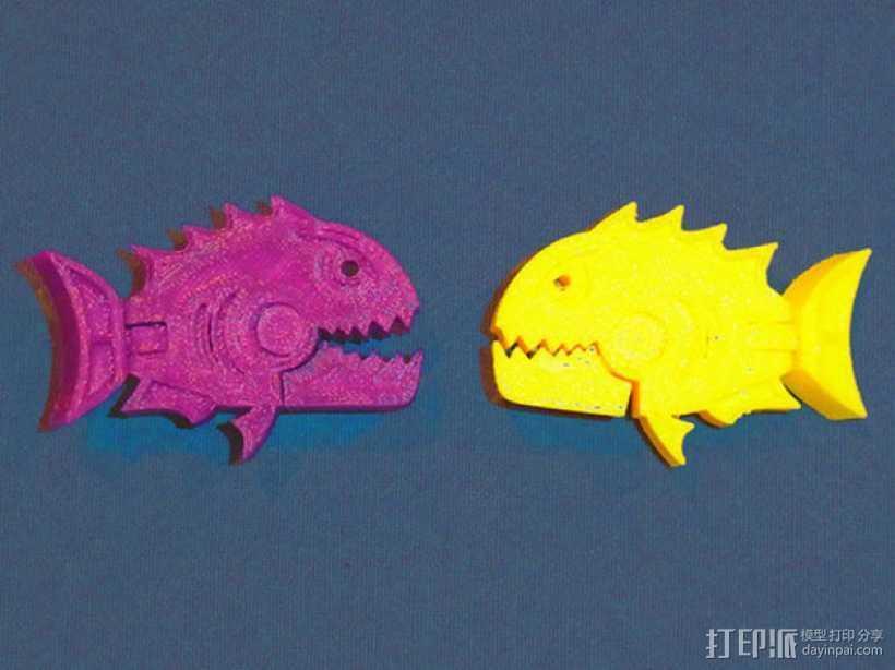 食人鱼  3D打印模型渲染图