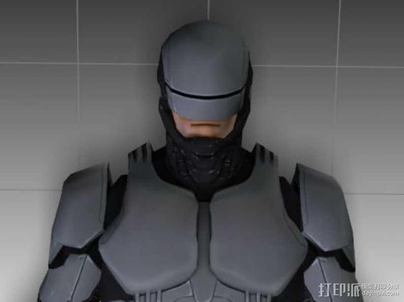 2014机械战警 半身像 3D打印模型渲染图