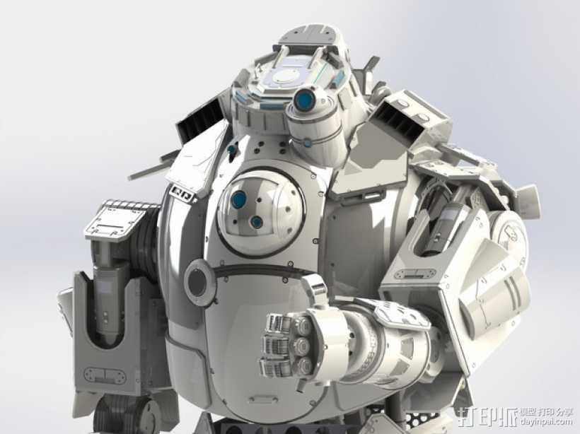 《泰坦陨落(Titanfall)》  Atlas装甲机器人 3D打印模型渲染图