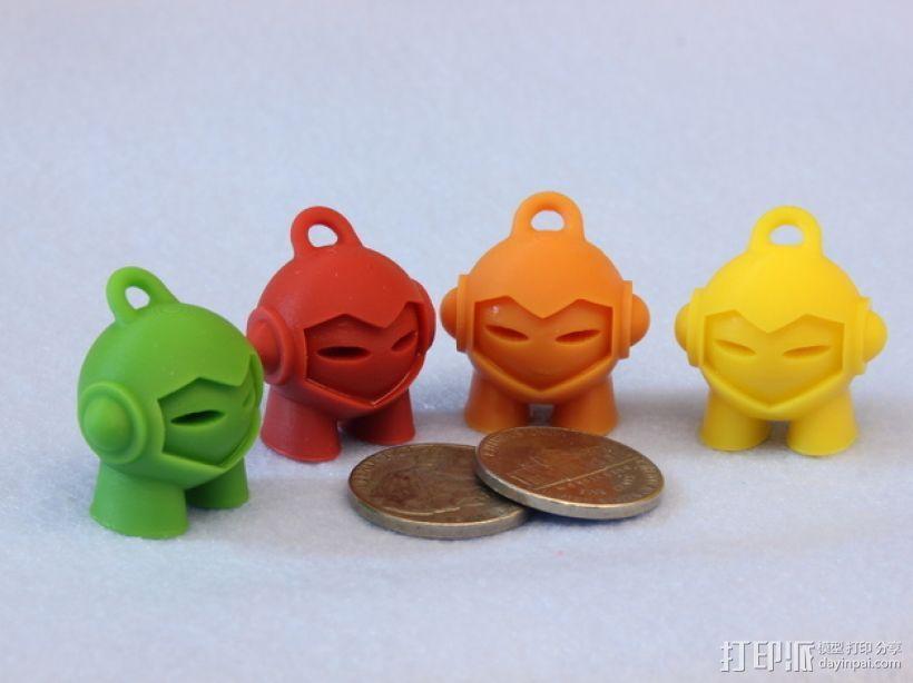 Marvin 玩偶 钥匙扣 3D打印模型渲染图