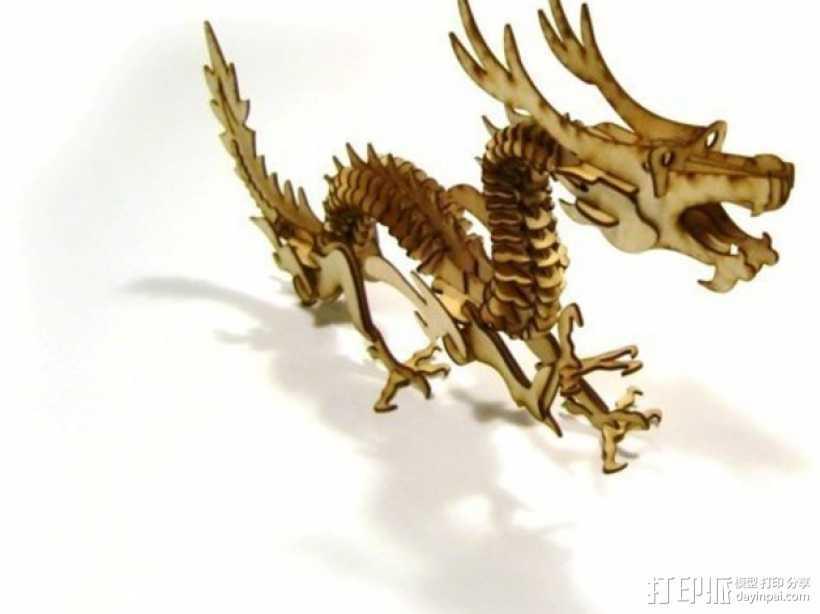 激光切割 龙 3D打印模型渲染图