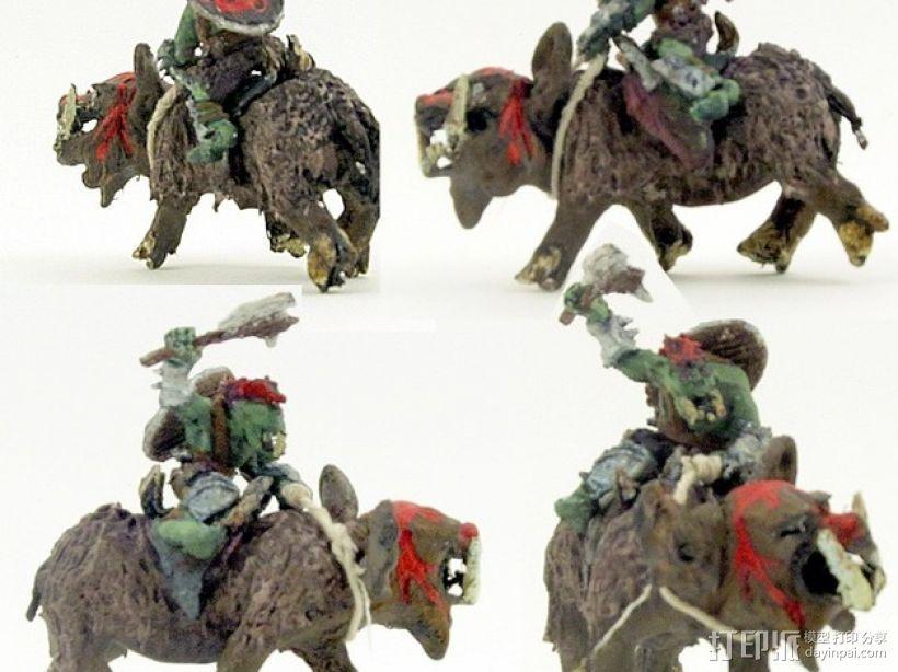 魔兽骑兵 3D打印模型渲染图