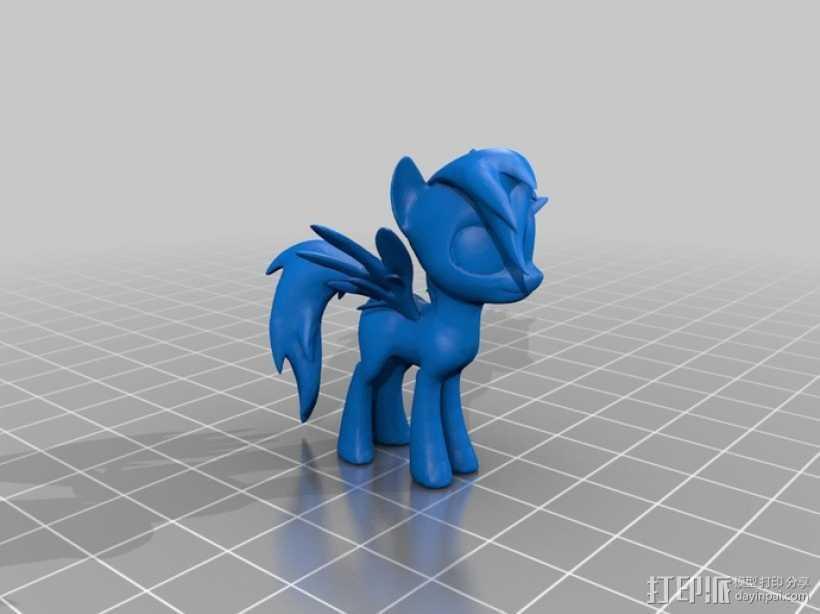 我的小马驹 玩具 3D打印模型渲染图