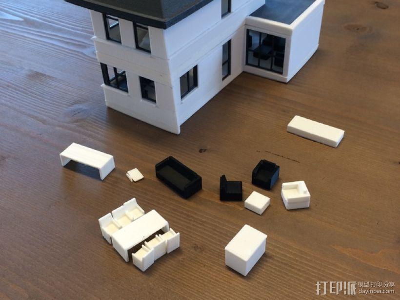 1:50房屋 3D打印模型渲染图