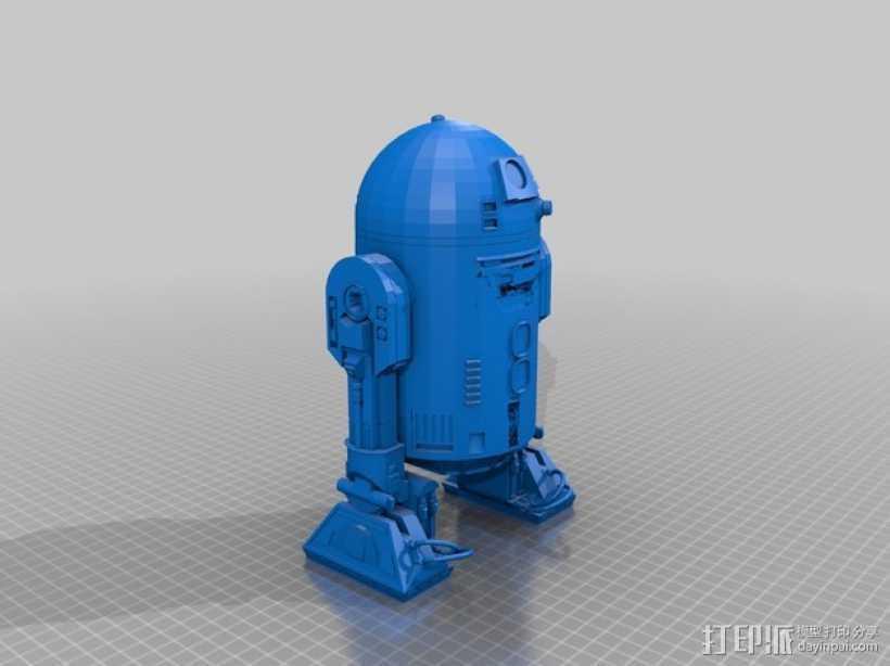 《星球大战》R2-D2机器人 3D打印模型渲染图