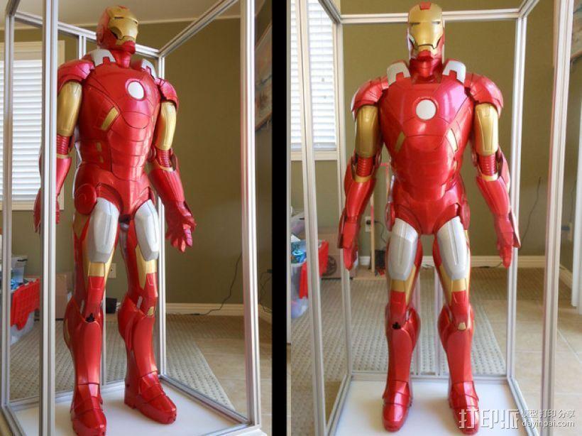 全尺寸钢铁侠 3D打印模型渲染图