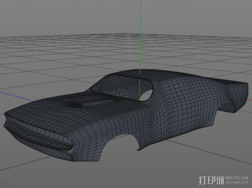 大功率高速汽车 外壳 3D打印模型渲染图