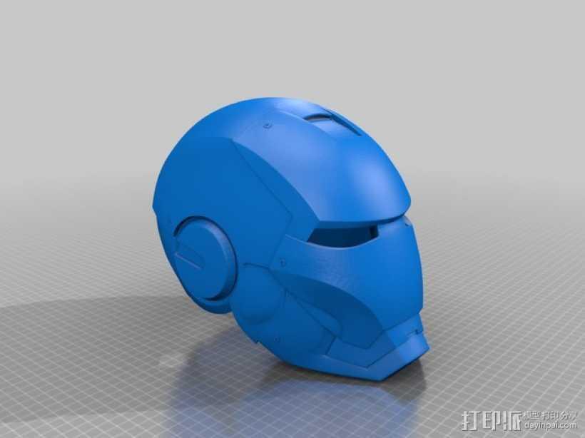 钢铁侠头盔 3D打印模型渲染图
