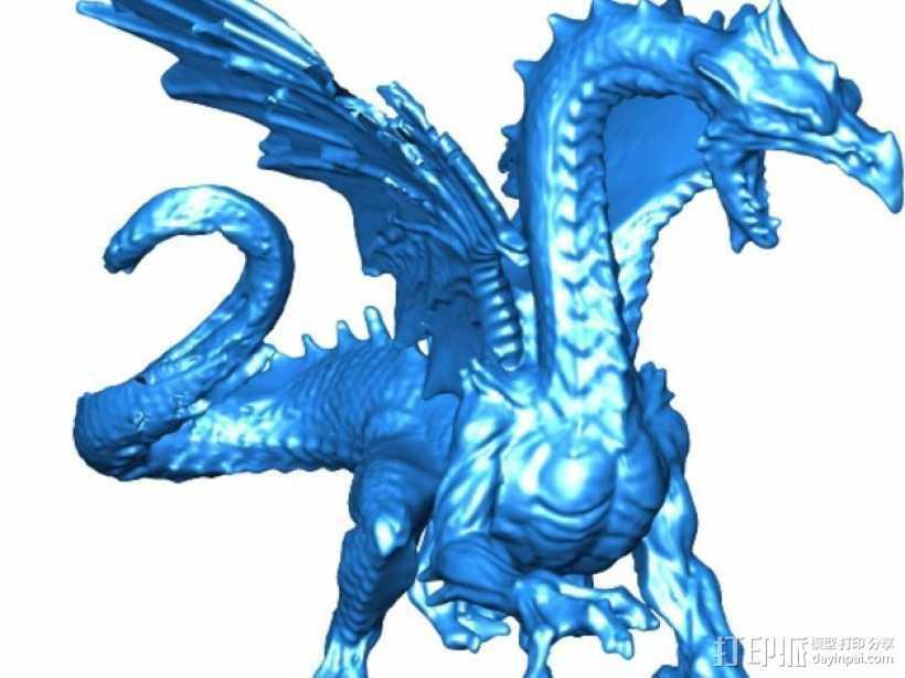 冰龙 3D打印模型渲染图