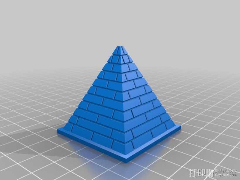 吉萨金字塔 3D打印模型渲染图