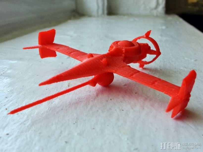 """动画《星际牛仔》""""剑鱼Ⅱ""""号战斗机 3D打印模型渲染图"""