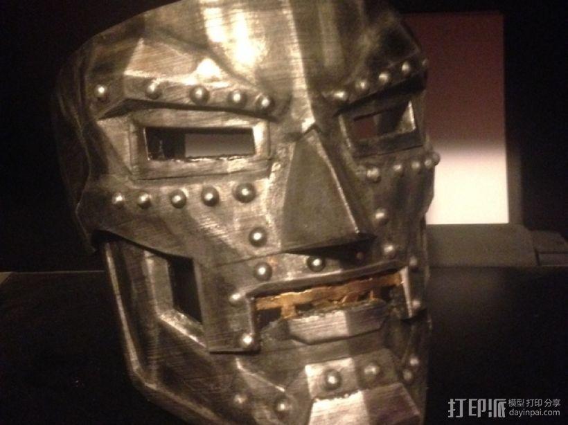 Dr Doom毁灭博士 面具 3D打印模型渲染图