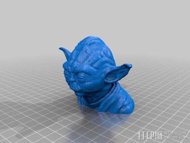 尤达大师 半身像 3D打印模型渲染图
