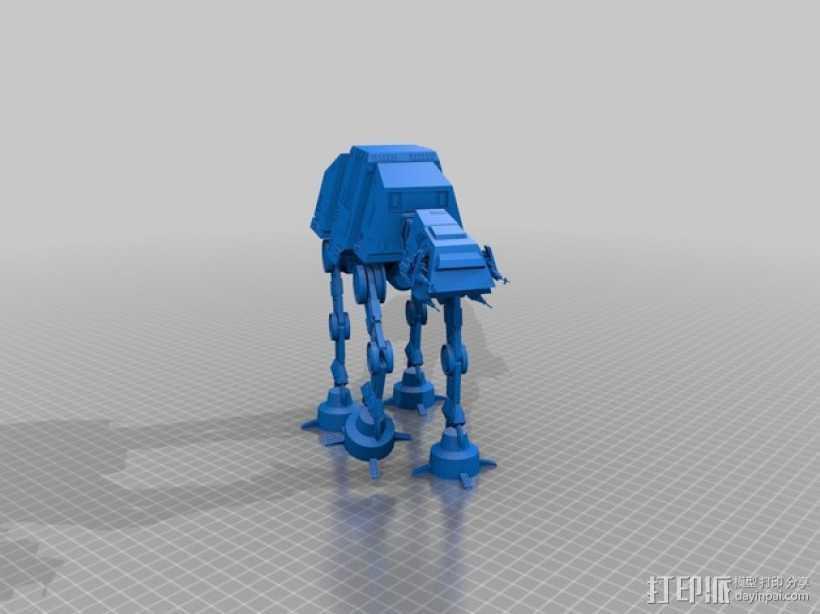 《星球大战》AT-AT步行机 3D打印模型渲染图