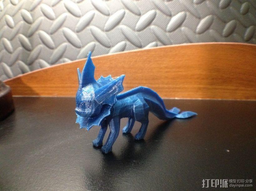 《神奇宝贝》水精灵  3D打印模型渲染图