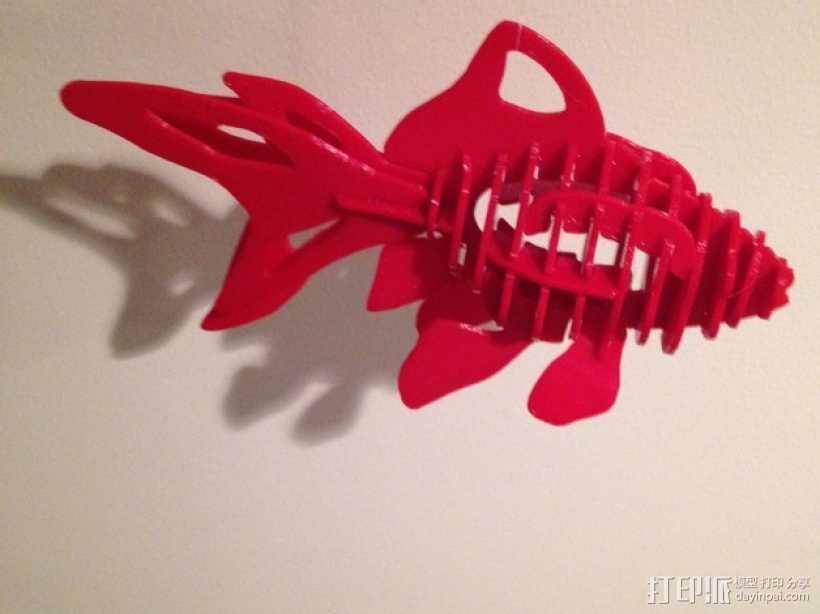 金鱼 - 3D拼图 3D打印模型渲染图