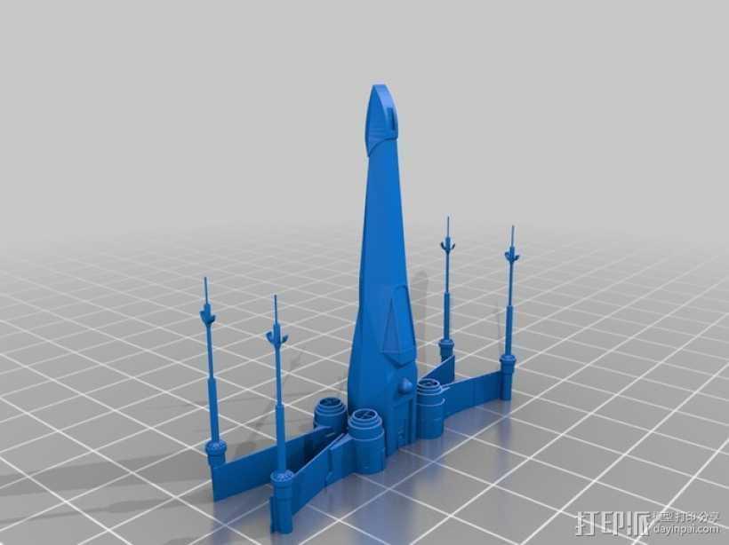 《星球大战 》X翼战机 3D打印模型渲染图