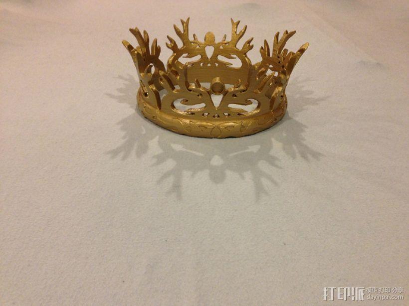 《权力的游戏》:王冠 3D打印模型渲染图