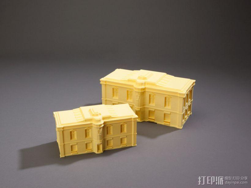 巴黎风格公寓 3D打印模型渲染图