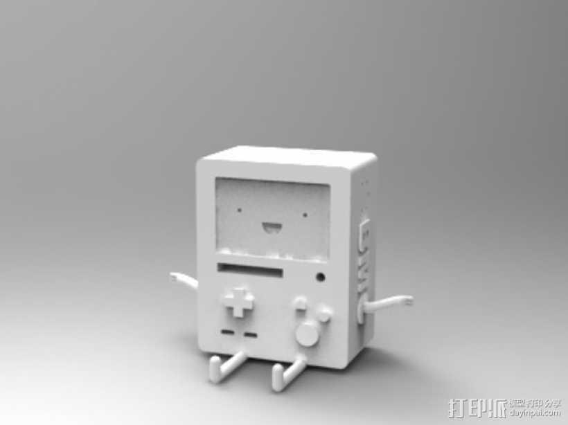 动画《探险活宝》BMO游戏机 3D打印模型渲染图