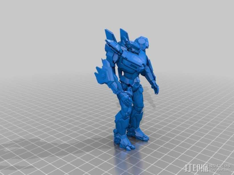 电影《环太平洋》机甲 3D打印模型渲染图
