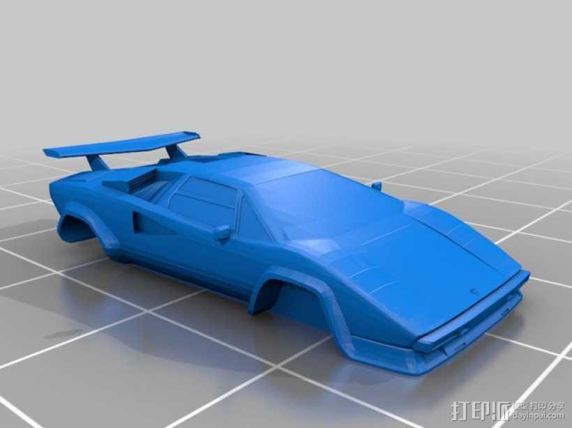兰博基尼 Countach LP 400汽车 3D打印模型渲染图