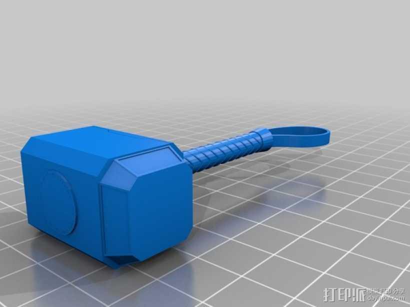 雷神之锤 3D打印模型渲染图