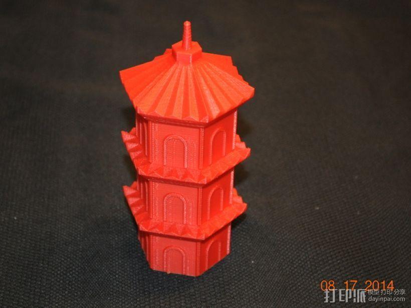 宝塔 3D打印模型渲染图
