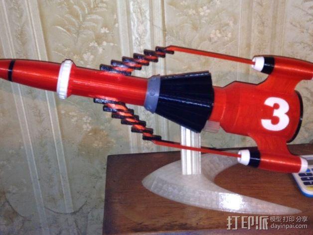 """""""雷鸟3""""飞行器 3D打印模型渲染图"""