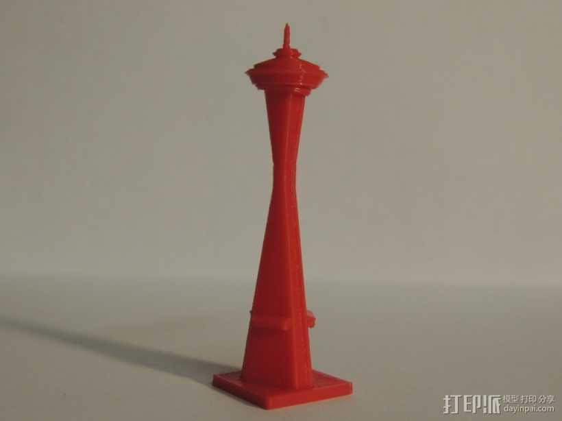 太空针塔 3D打印模型渲染图