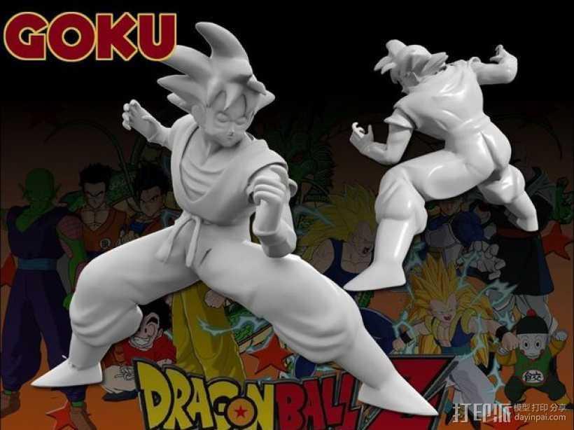 Goku 悟空 3D打印模型渲染图