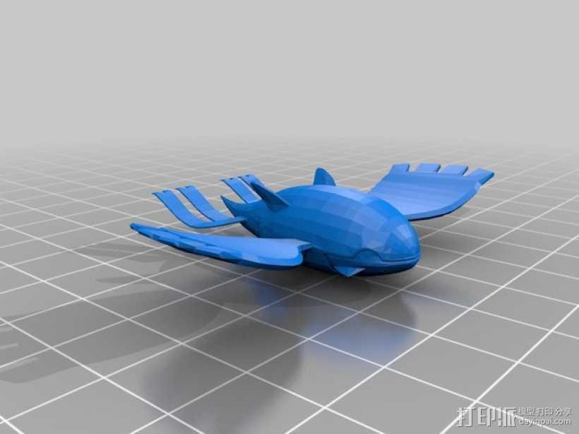 口袋妖怪 盖欧卡 3D打印模型渲染图