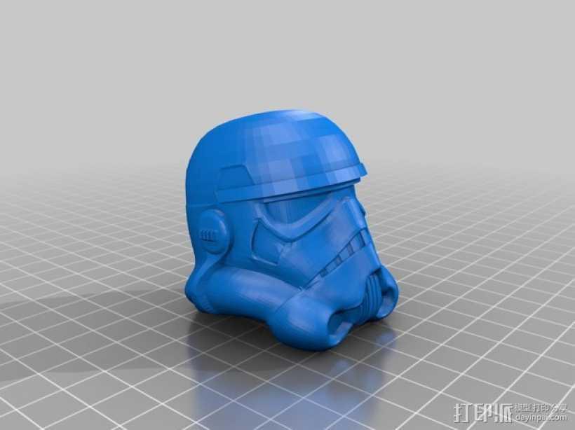 帝国风暴兵头盔 3D打印模型渲染图