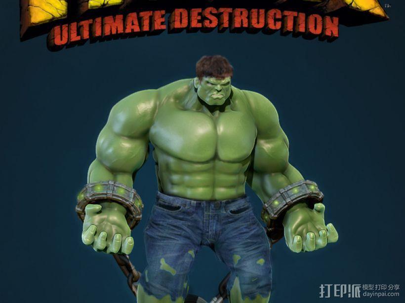 绿巨人浩克模型 3D打印模型渲染图