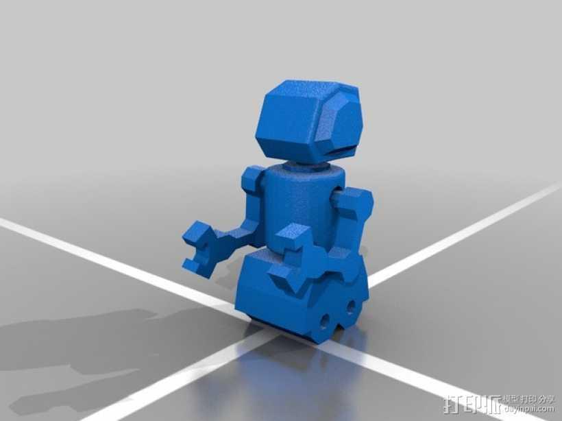 迷你机器人  3D打印模型渲染图