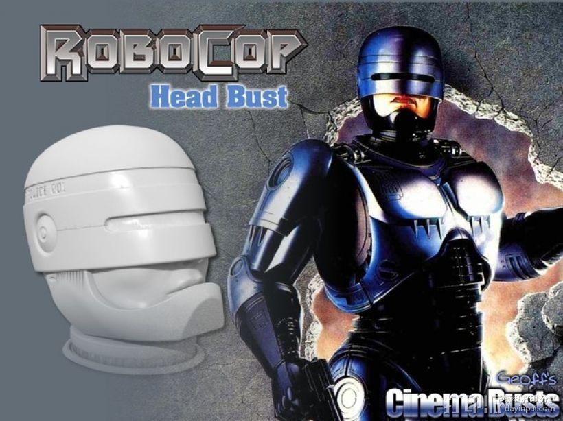 机械战警半身像 3D打印模型渲染图