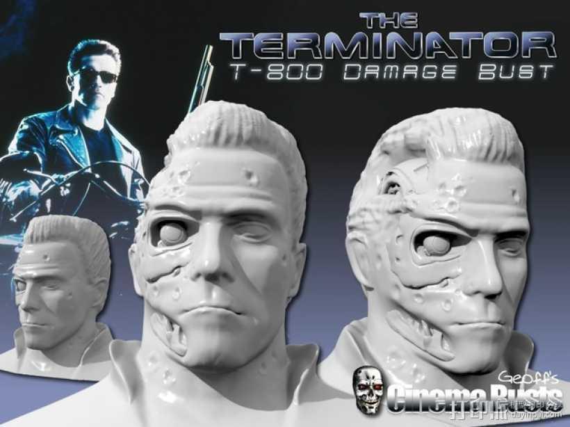终结者半身像  3D打印模型渲染图