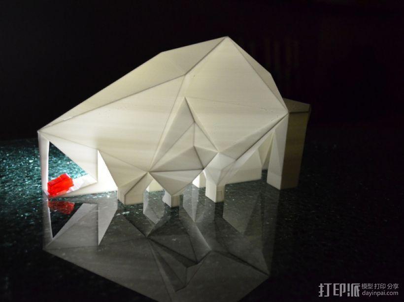 未来火星基地 3D打印模型渲染图