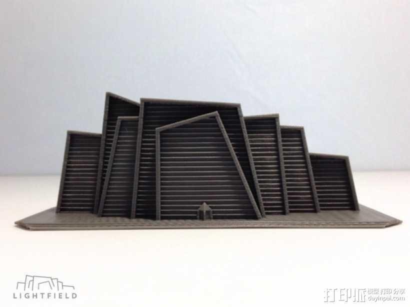 Lightfield 大厦 3D打印模型渲染图
