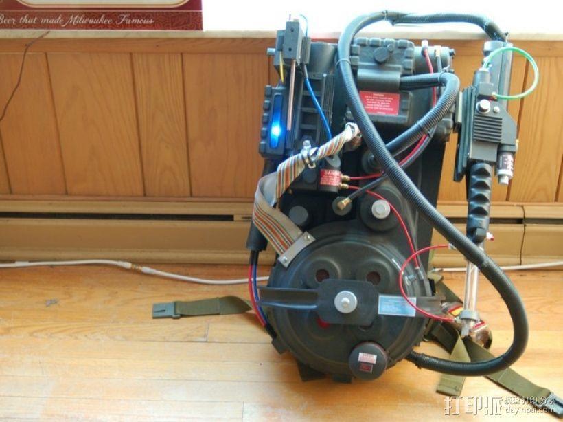 捉鬼敢死队Proton Pack 能量武器 3D打印模型渲染图