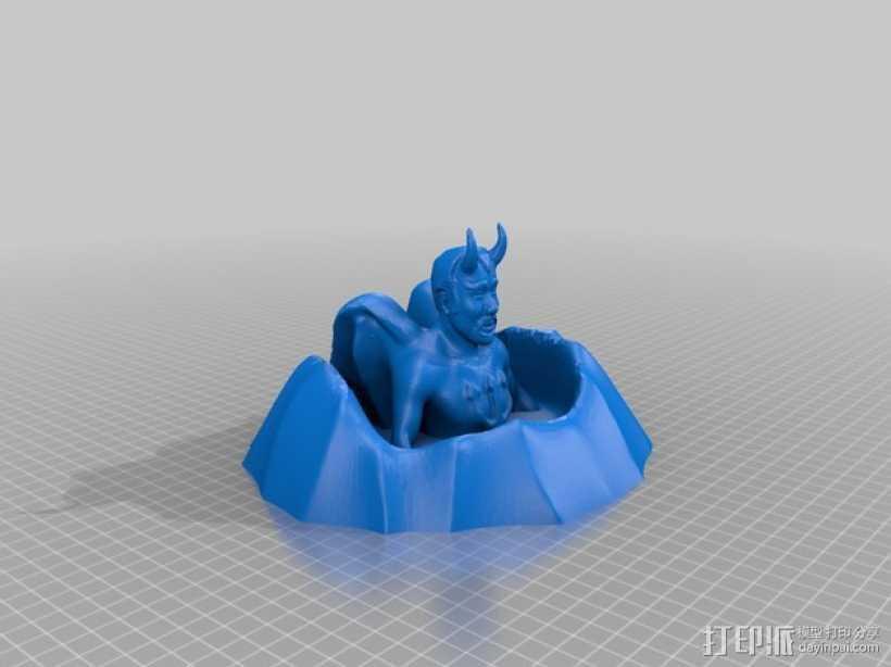 火山口的魔鬼 3D打印模型渲染图