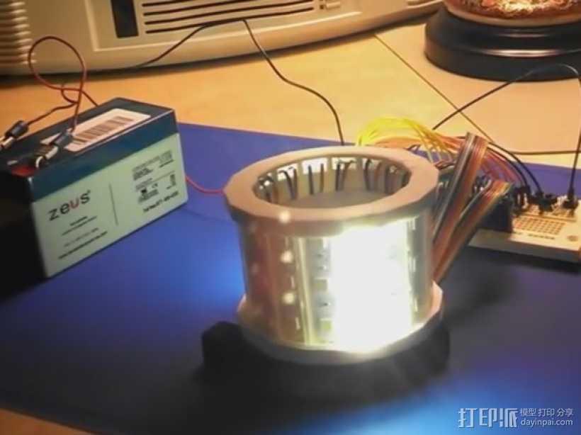 LED灯外罩 保护罩 3D打印模型渲染图