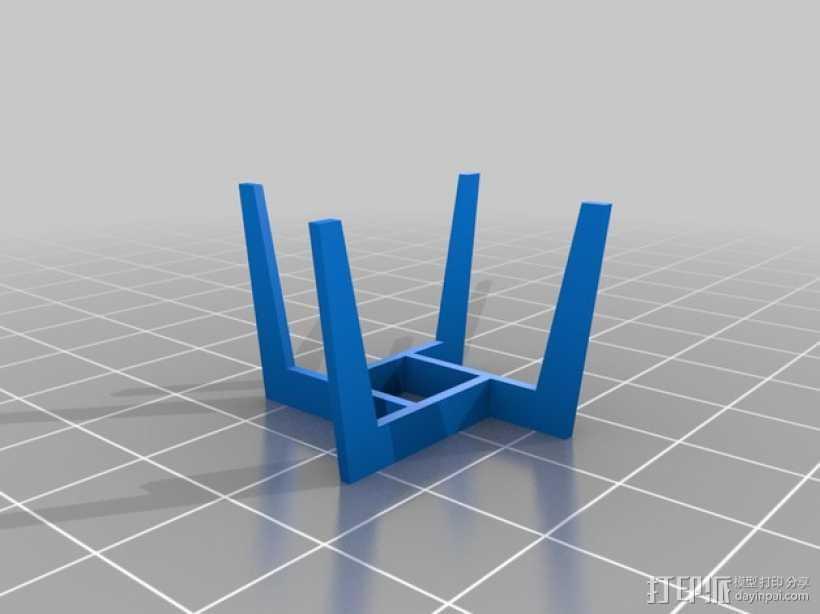 圆形咖啡桌 3D打印模型渲染图